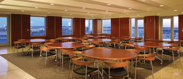 Event space at the City View Room at George Washington University