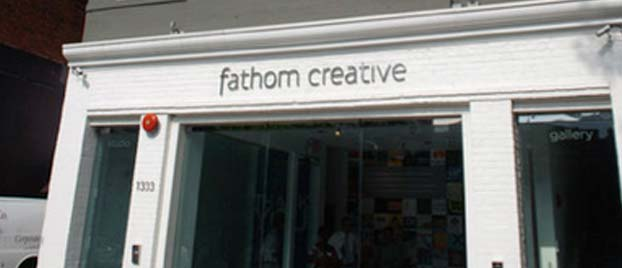 Outside view of the Fathom Gallery