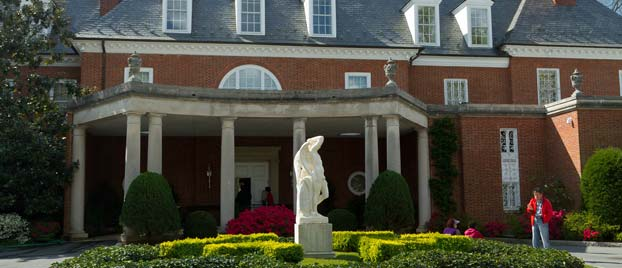 Outside view of the Hillwood Estate, Museum & Gardens