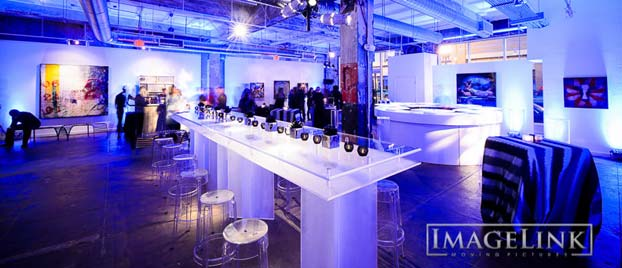 Event space at Long View Gallery