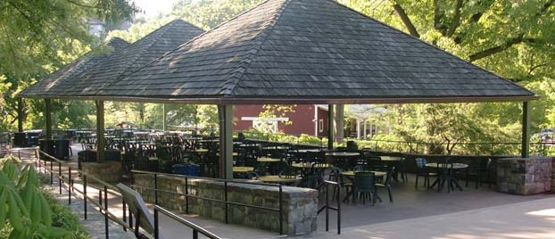 Outdoor event space at the National Zoological Park