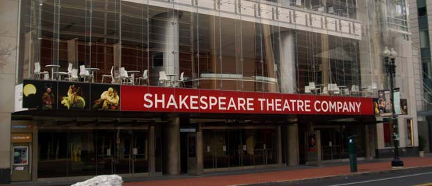 Outside view of the Shakespeare Theatre Company