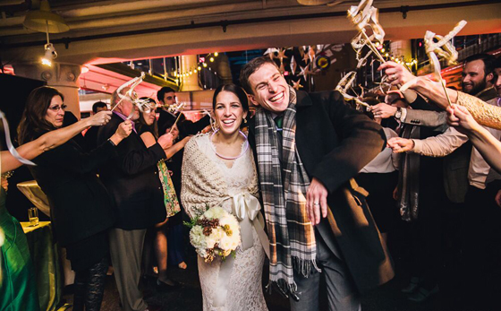 Farewell to Bride and Groom at Torpedo Factory