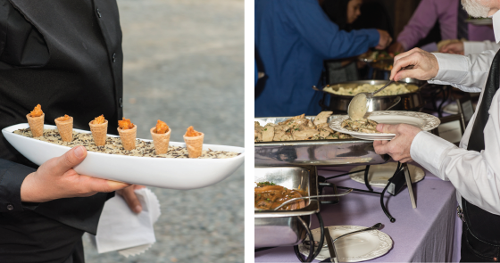 Purple Onion Catering Co Appetizers and buffet food wedding