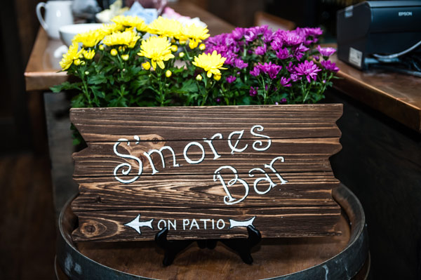 S'mores Bar Wood Signage