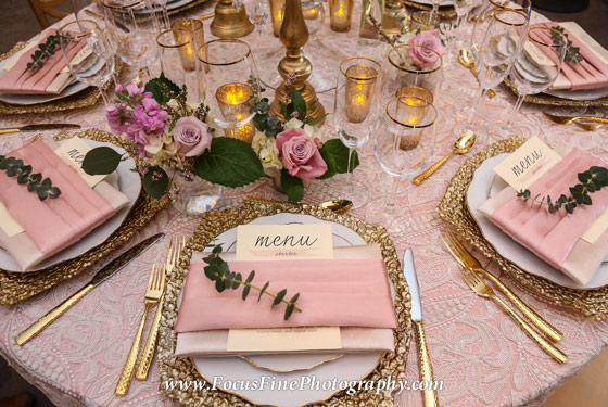 Pink Lace Table Setting