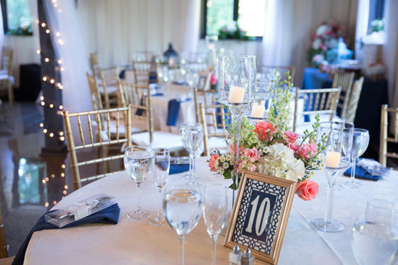 Spring Wedding Table Settings and Centerpiece