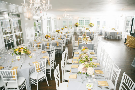 Yellow and White Spring Wedding