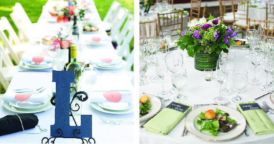 Elegant Table Settings by Purple Onion Catering Co