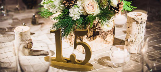 Fall Wedding Decor Table Number