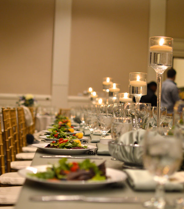 Candle Light Wedding Table Setting