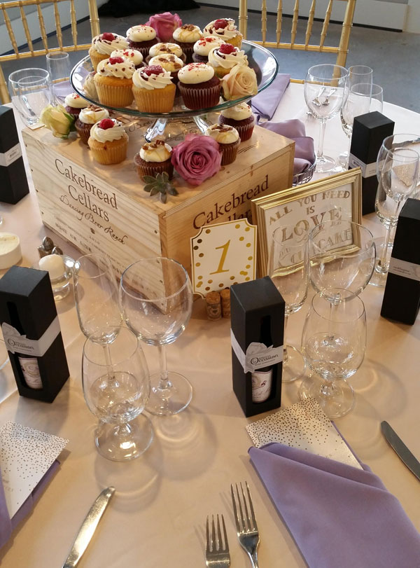 Adorable Cupcake Wedding Centerpiece