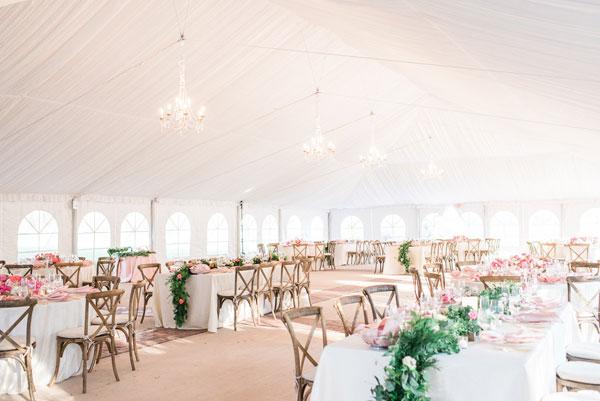 Tented Wedding Table Settings