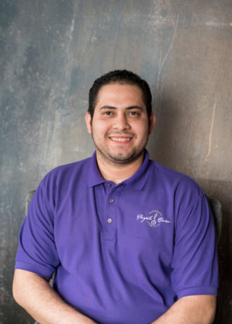 Francisco Baharona, Assistant Operations Manager at Purple Onion Catering Co.